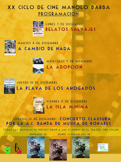 PROGRAMACIÓN XX CICLO DE CINE MANOLO BARBA