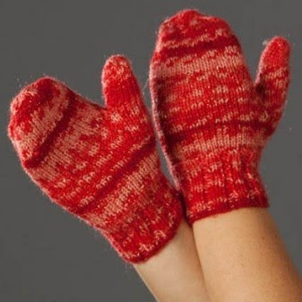 Free Knitting Patterns For Childrens Mittens : NobleKnits Free Patterns: Childrens North Pole Mittens Free Knitting Pat...