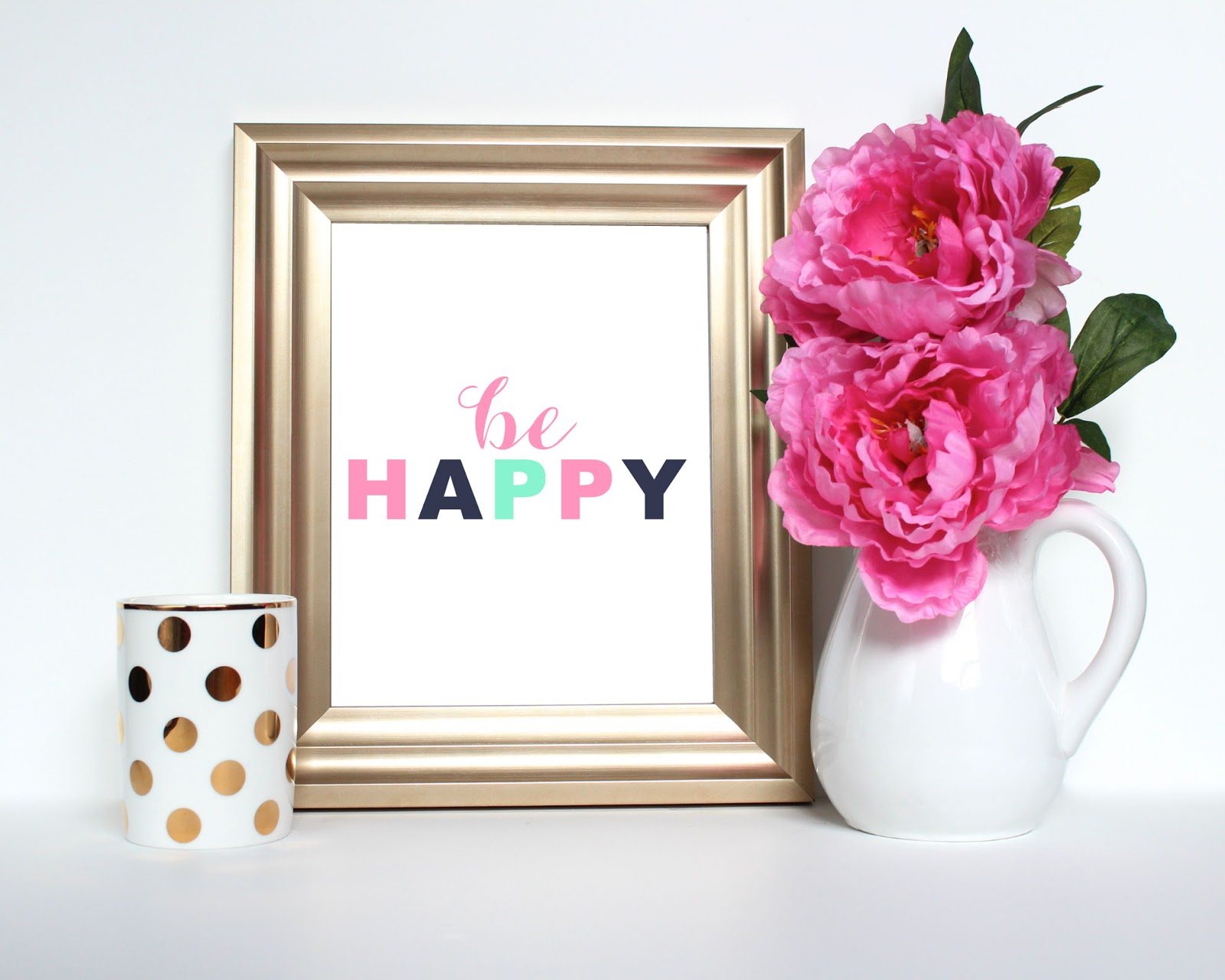 Be Happy Printable by JM Print Shop