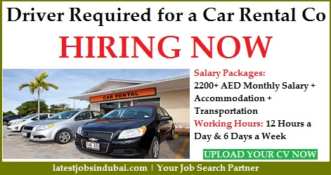 Driver Required for a Car Rental Company in Dubai