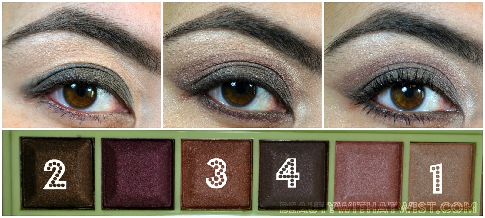 Smoky brown makeup tutorial using Pixi Beauty Plum Quartz palette