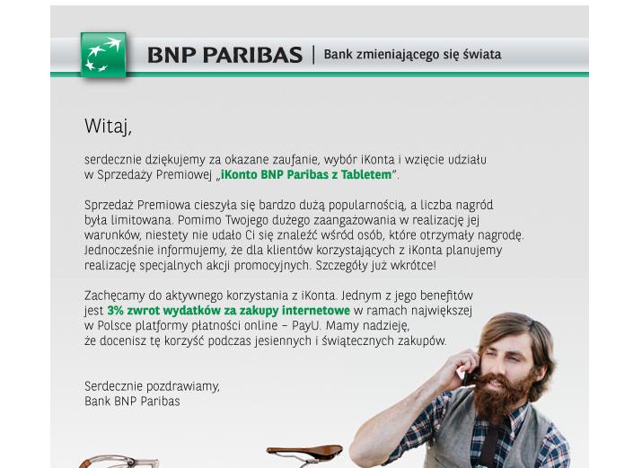 BNP Paribas tablet nie otrzymany sciema