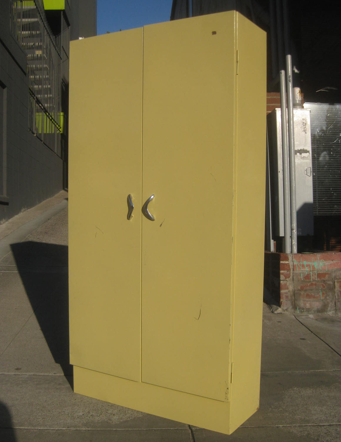 SOLD - Vintage Metal Storage Cabinet - $50 - UHURU FURNITURE & COLLECTIBLES: SOLD - Vintage Metal Storage Cabinet