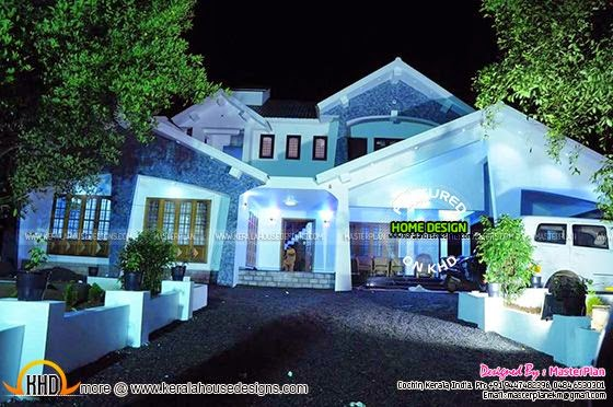 Night photograph of house