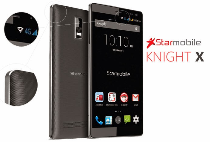 Starmobile Knight X '2.0GHz Octa Core Smartphone with 4G LTE' Full Specs, Price and Features