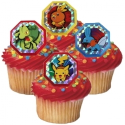 Pokemon Cupcake Rings