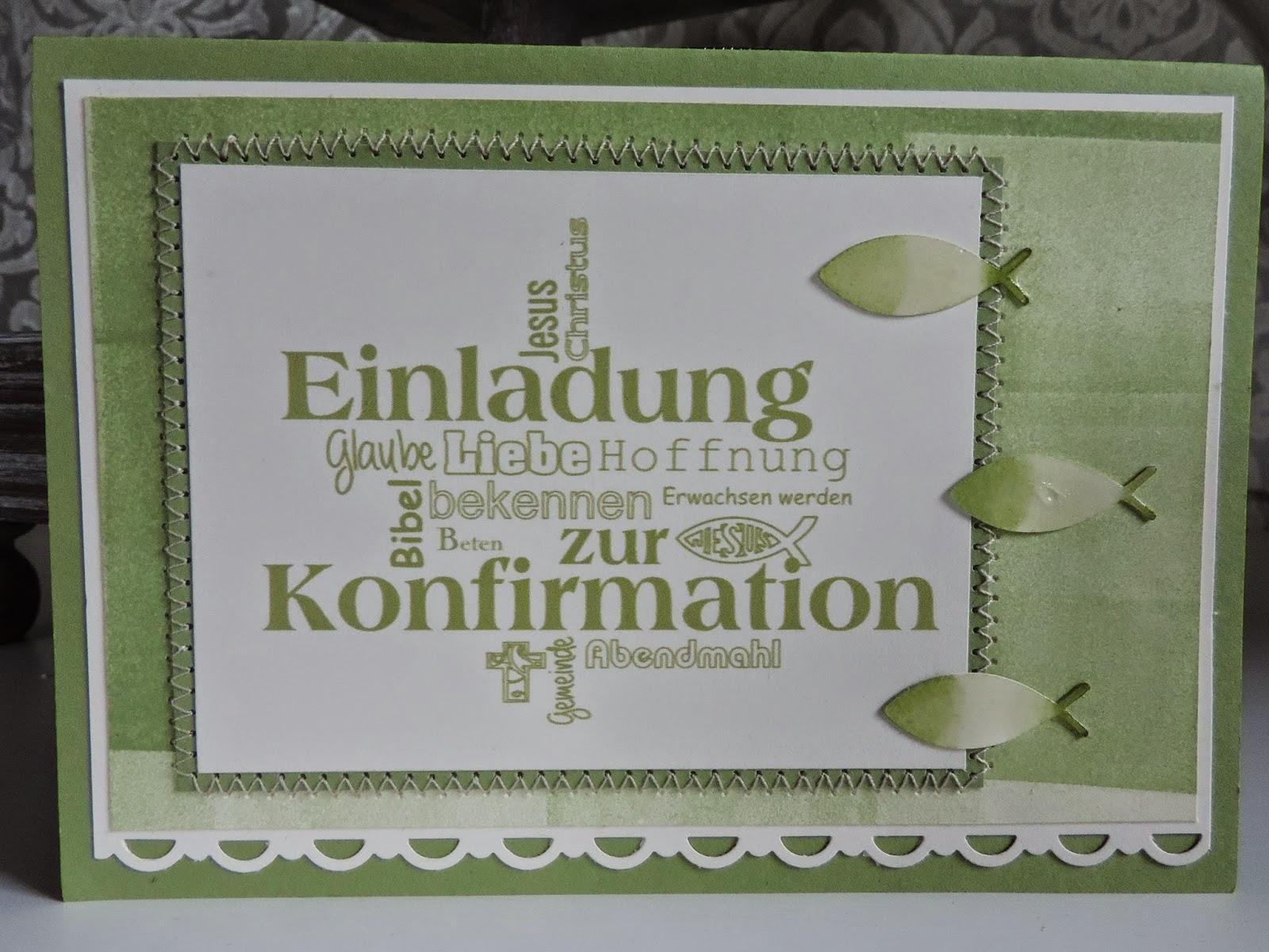 kathis bastelversuche: einladungskarten zur konfirmation, Einladung
