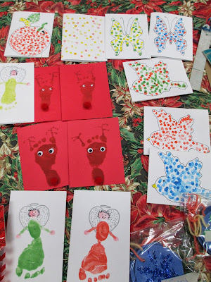 The Pa-Paw Patch, Santa's Workshop, vale nc daycare, vale nc childcare, diy kid's christmas cards, kid's christmas crafts