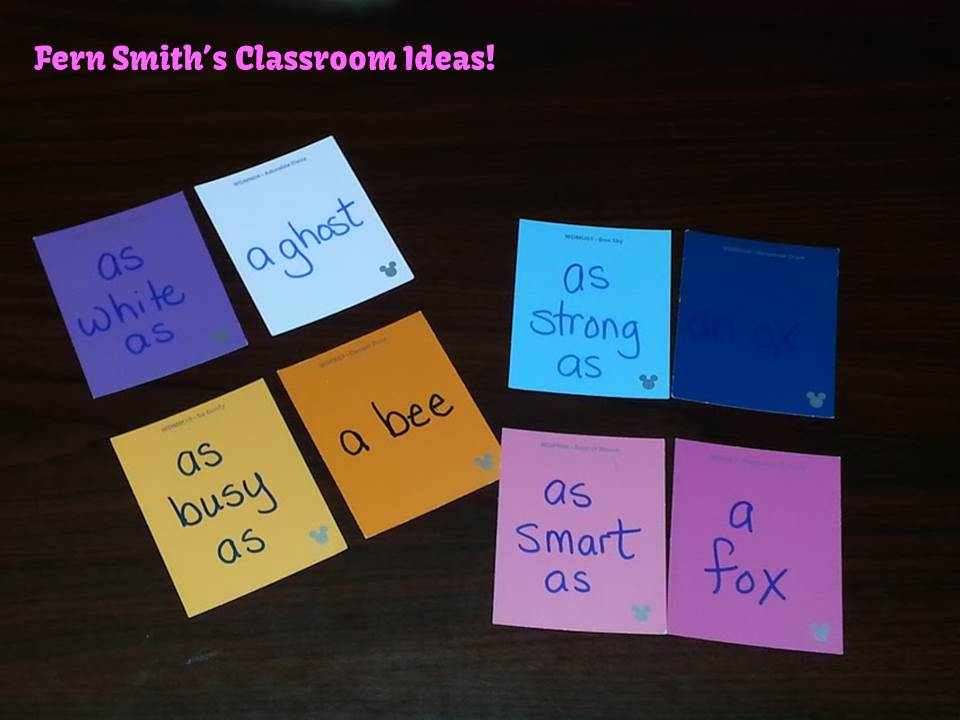 "Fern Smith's Grammar Center Game ""Similes!"" with Paint Sample Cards"