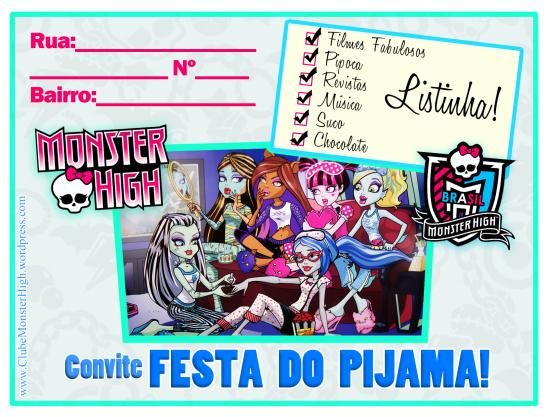 borralheira quem te pintou? Convite e tags para Festa Monster High