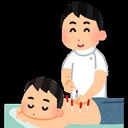 鍼治療のイラスト(男性)