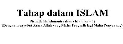 TAHAP DALAM ISLAM