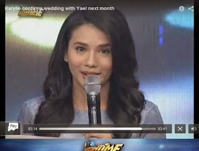 Karylle Tatlonghari, during the live episode of It's Showtime on