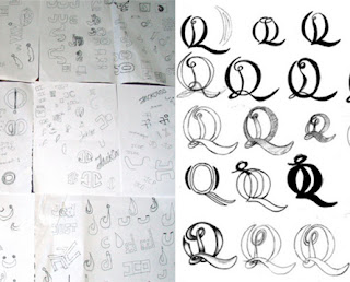 Logo Design process. Do your initial sketches