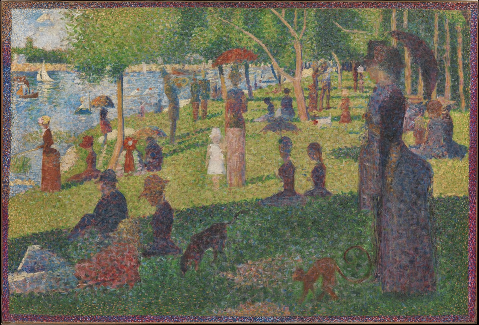 "Study for ""A Sunday on La Grande Jatte"" by Georges Seurat"
