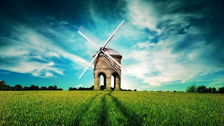 Field and windmill backgrounds for computer