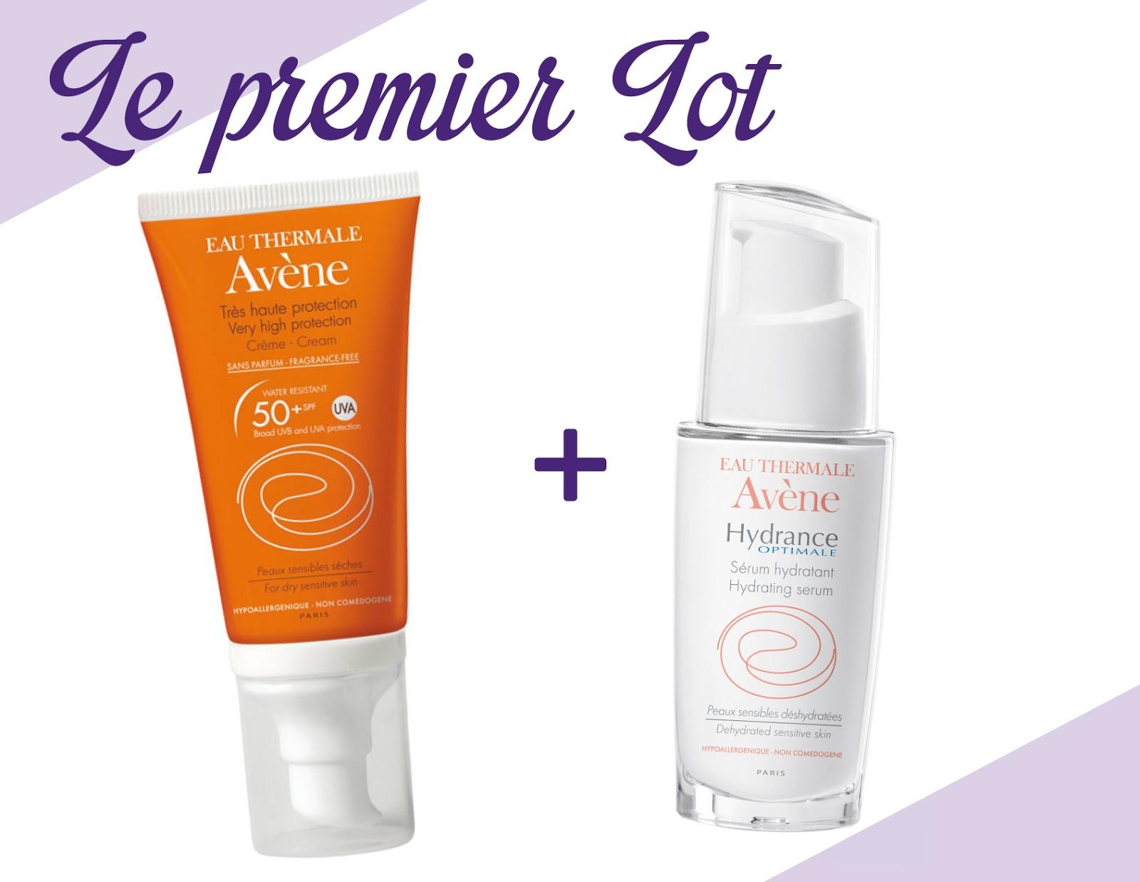 crème visage SPF 50 et sérum Hydrance Optimale.