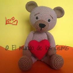 2000 Free Amigurumi Patterns: Valentine Bear (Spanish ...