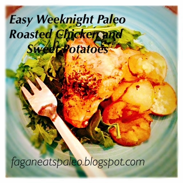 Paleo Roasted Chicken and Sweet Potatoes