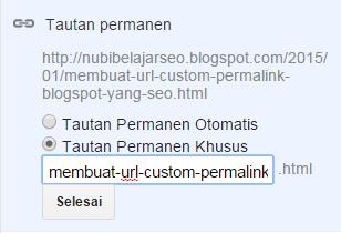 contoh custom permalink blogspot