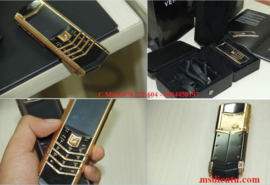 vertu signatures S yellow gold copy