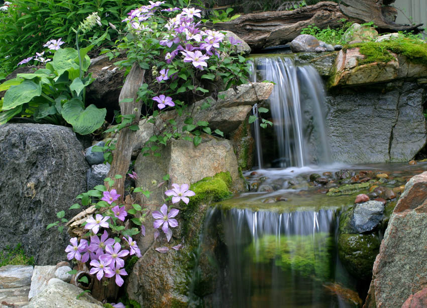 Aquascape your landscape waterfalls the perfect abode for Waterfall features for ponds