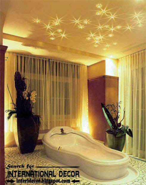 Contemporary bathroom ceiling lighting ideas for Contemporary bathroom lighting ideas