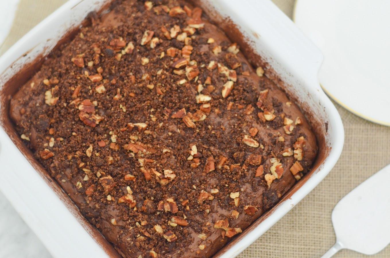 Chocolate Peanut Butter Coffee Cake w. Cinnamon + Cardamom | Luci's Morsels
