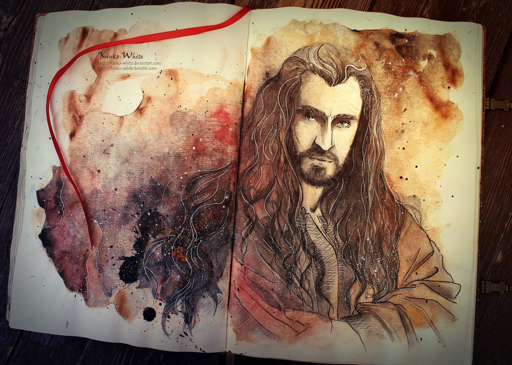 01-Thorin-Kinko-White-The-Hobbit-Watercolors-www-designstack-co