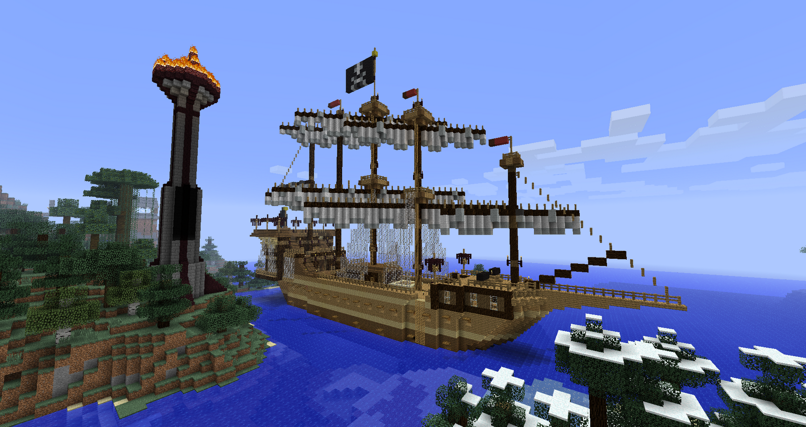 how to make a real working boat in minecraft