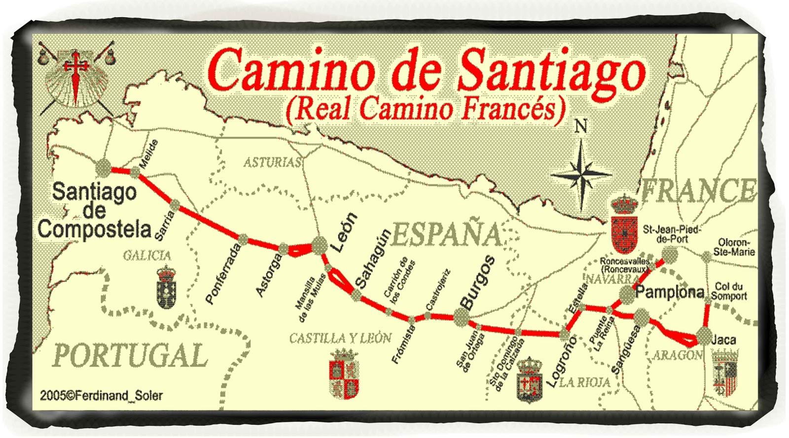 Camino de santiago 800 project - St jean pied de port to santiago distance ...