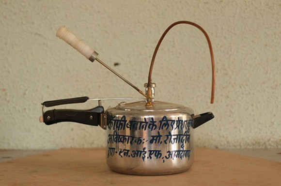 ... Indian Who Changed a Pressure Cooker Into an Espresso Coffee Machine