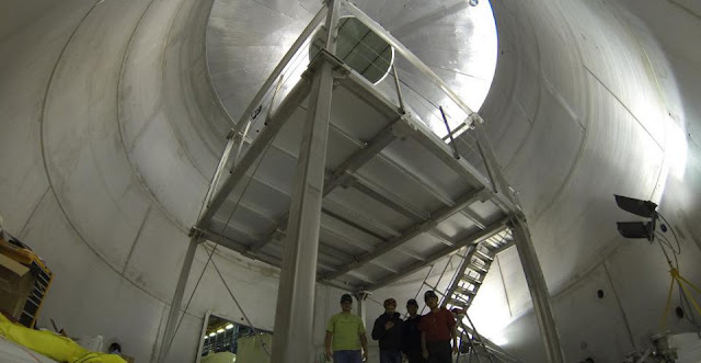 Inside the XENON Water Tank. Credit: purdue.edu
