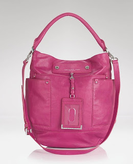 PREPPY LEATHER HOBO BAG, PINK