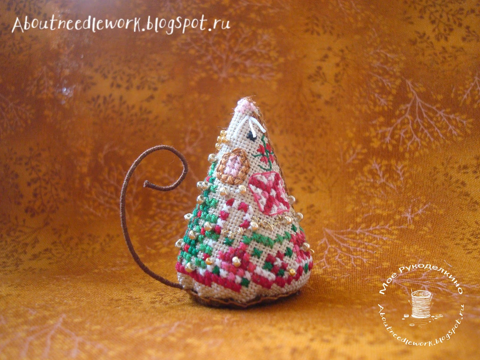 Мышка Gingerbread Mouse от Just Nan