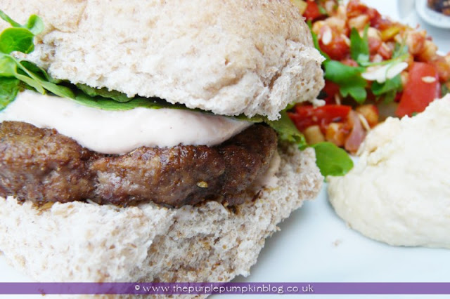Moroccan Lamb Burgers at The Purple Pumpkin Blog