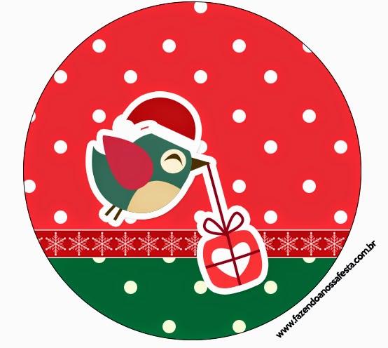 Aparador Sala De Jantar ~ Pajaritos de Navidad Etiquetas para Imprimir Gratis Ideas y material gratis para fiestas y