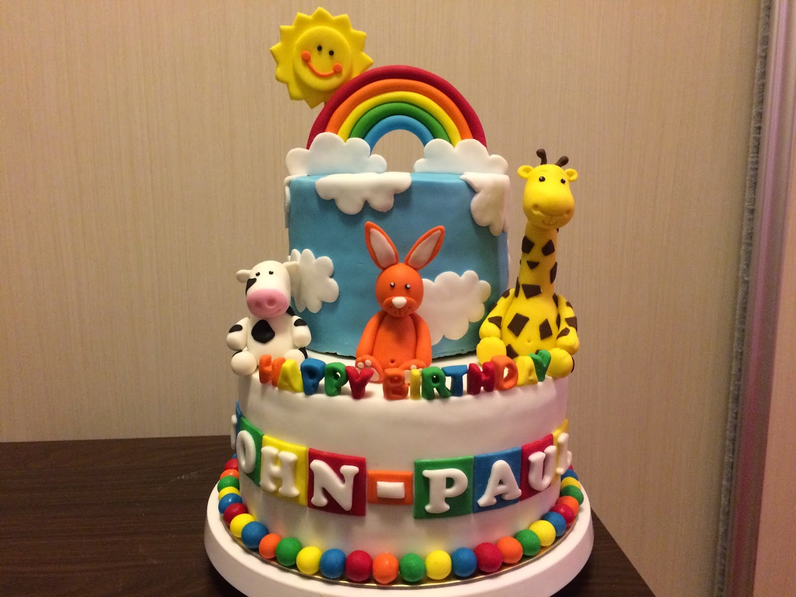 Rainbow Happy Animals Cake Crissas Cake Corner