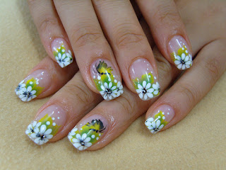 flor decorao de unhas