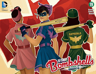Cover of DC Comics Bombshells #19 featuring the Batgirls