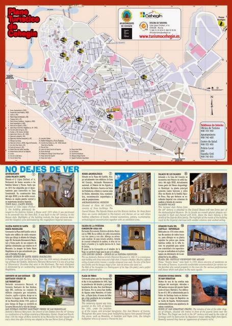 Plano turístico de Cehegín.