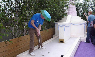 Crazy Golf Pro Championship at Selfridges London