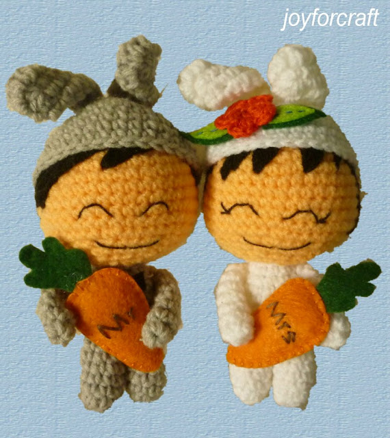 crochet cute couple doll amigurumi pattern wedding gift kawaii