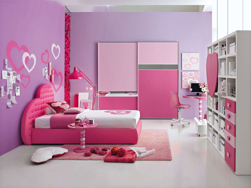 The obsession with pink words of the 39 fallen angel 39 for Teenage girl bedroom color schemes