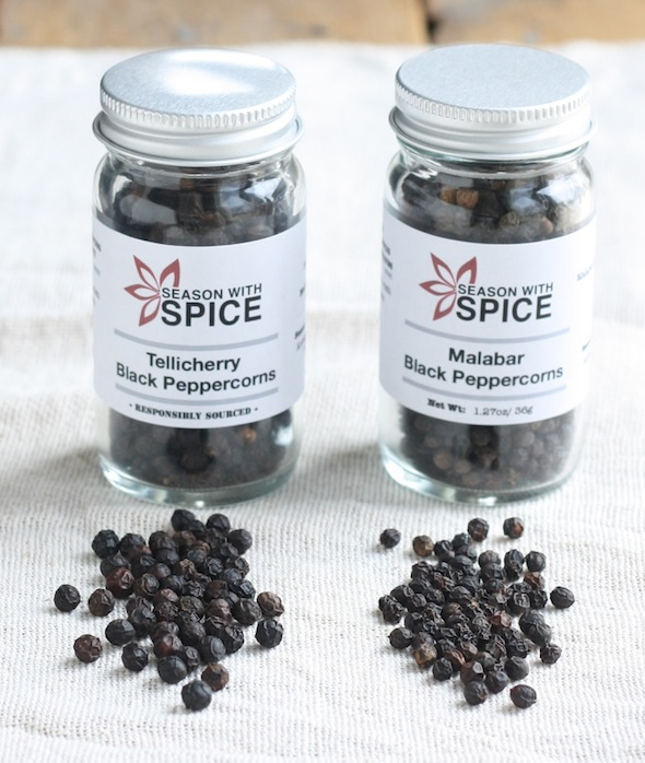 What are tellicherry black peppercorns and malabar black pepper?