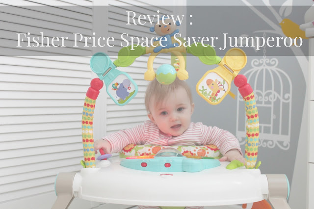 blog review of the fisher price space saver jumperoo including a short video