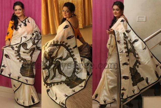 Tusser Sari with Natraj Art