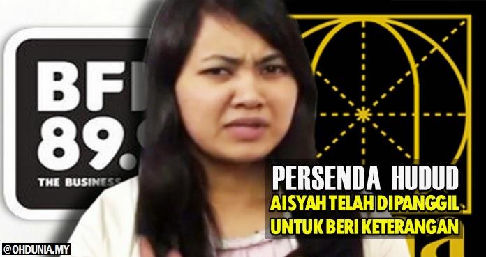 Video persenda Hudud: Aisyah telah dipanggil Polis untuk beri keterangan