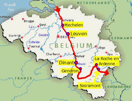 ardennes belgium map