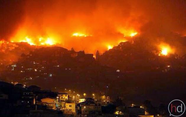 INCENDIOS FORESTALES HAN CONSUMIDO 11 MIL HECTAREAS EN CHILE